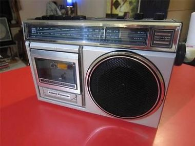 NATIONAL-PANASONIC-portable-cassette-player-radio-MODEL-NO-RX